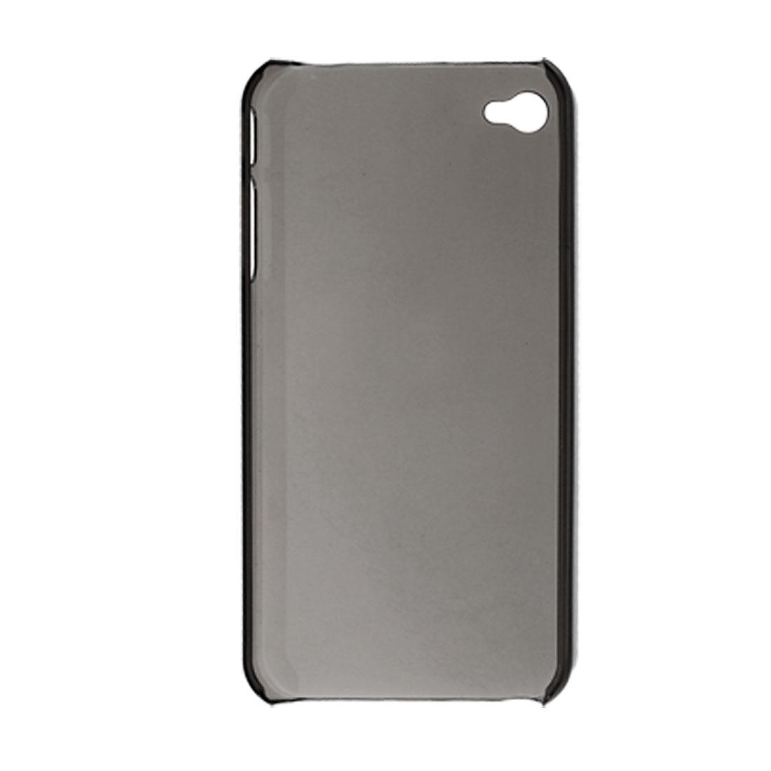 Clear Gray Plastic Protective Back Case for Apple iPhone 4 4G