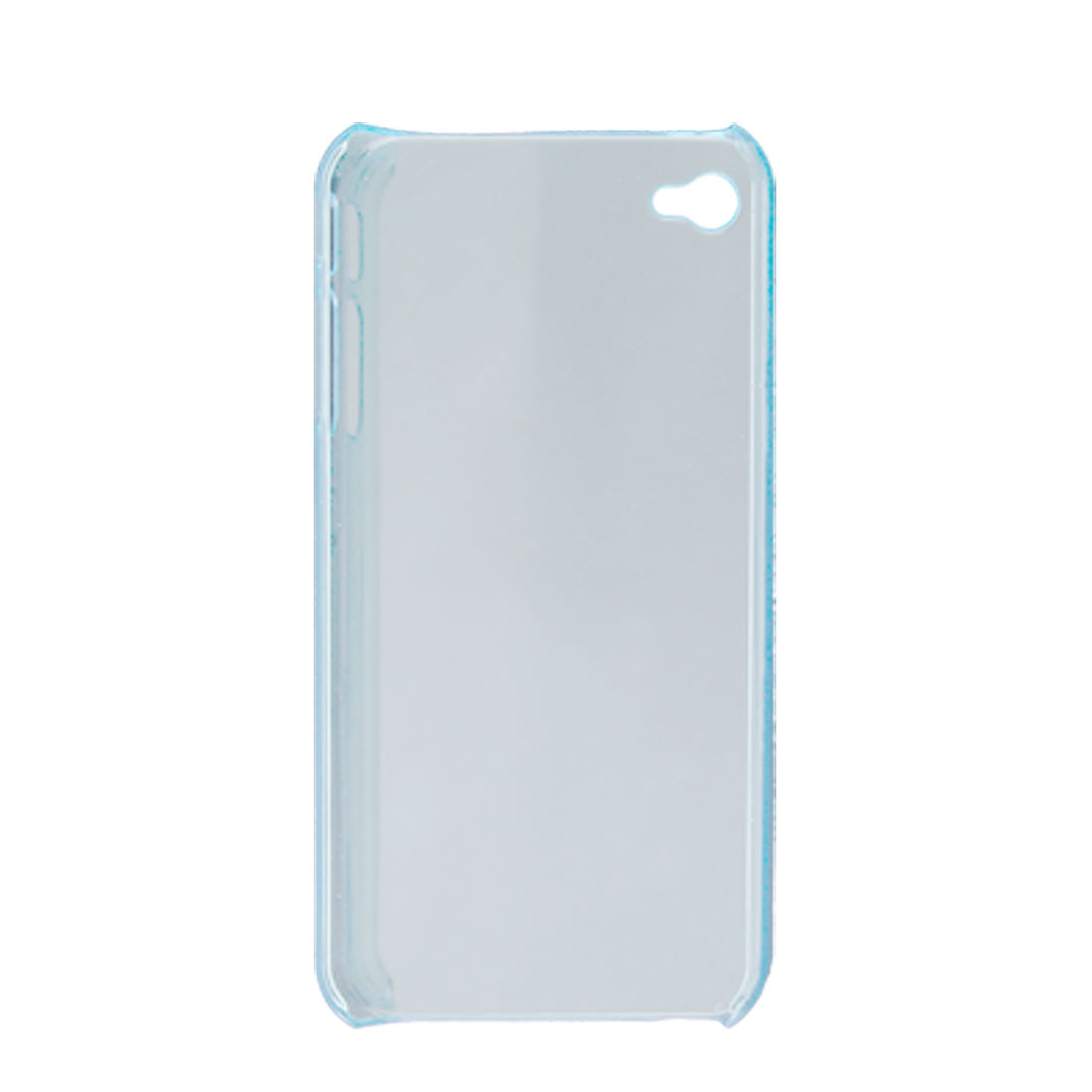 Clear Blue Plastic Back Shield Case for Apple iPhone 4G 4