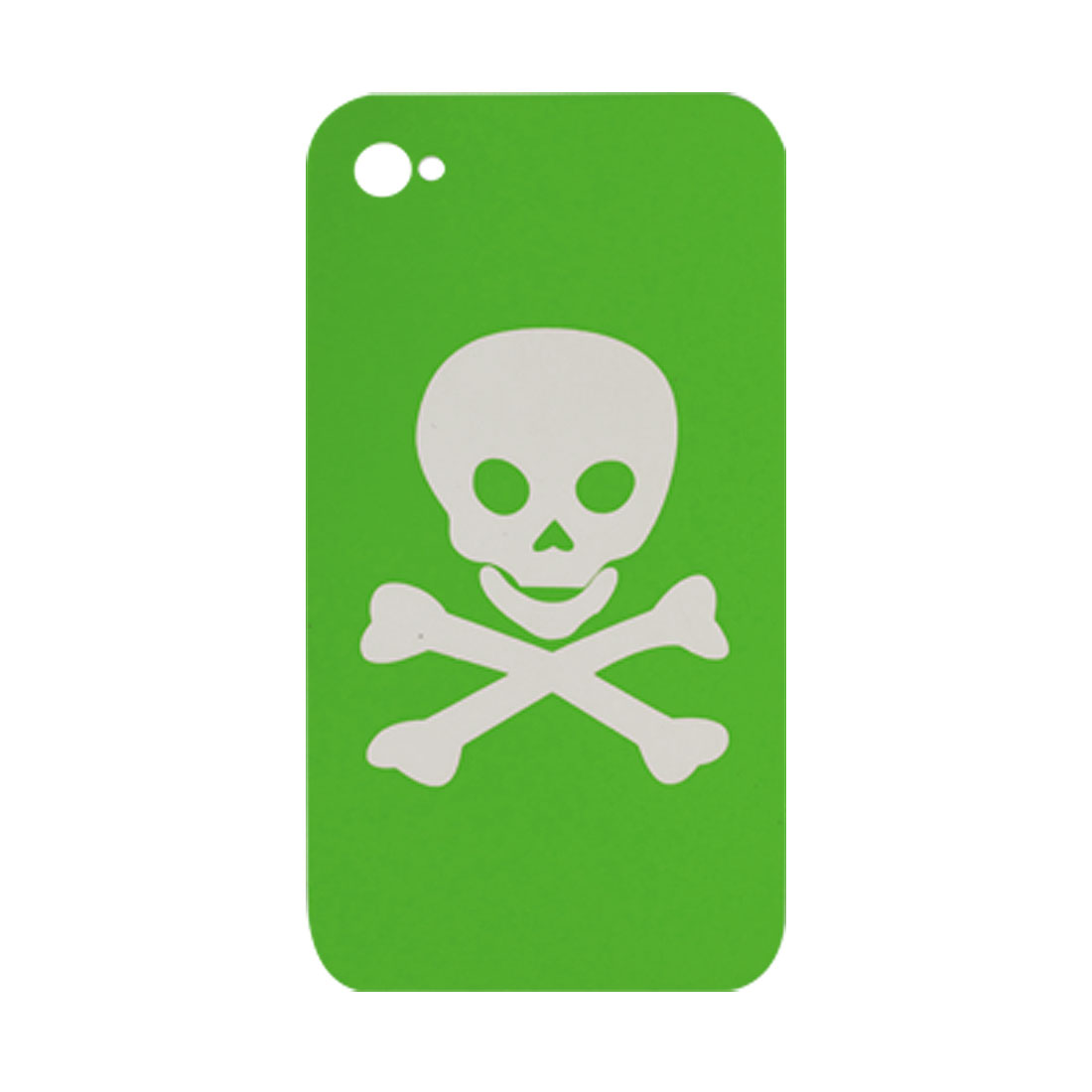 Skull Pattern Green Plastic Hard Case Cover for Apple iPhone 4 4G