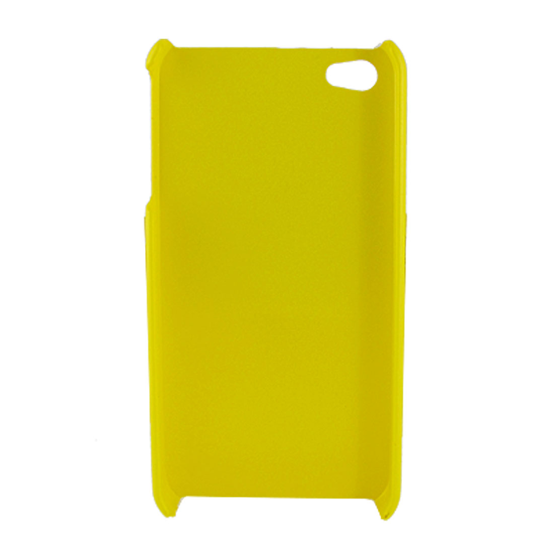 Rubberized Yellow Hard Plastic Guard Case for Apple iPhone 4 4G