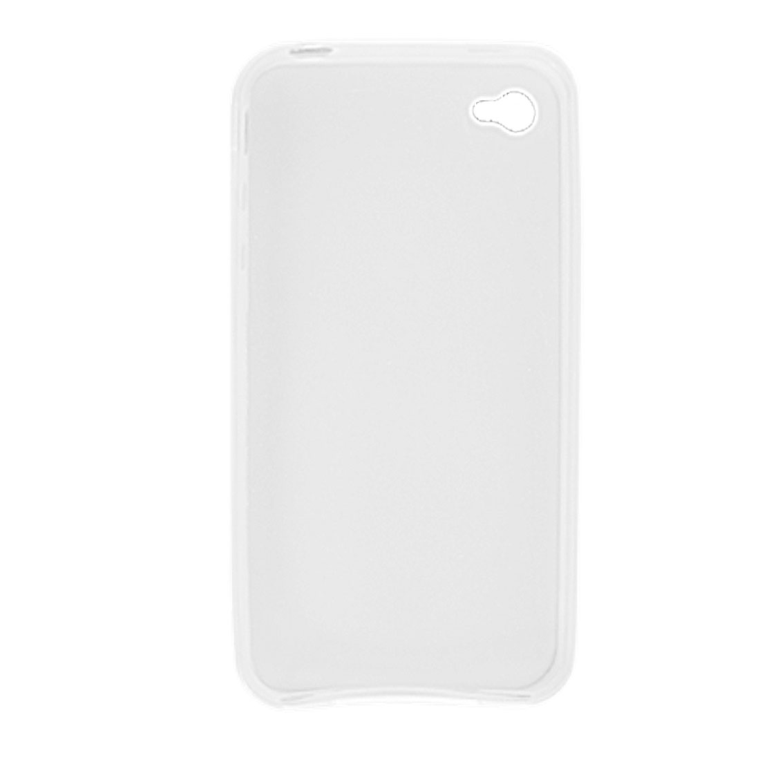 Protective Clear White Soft Plastic Case Cover for Apple iPhone 4 4G
