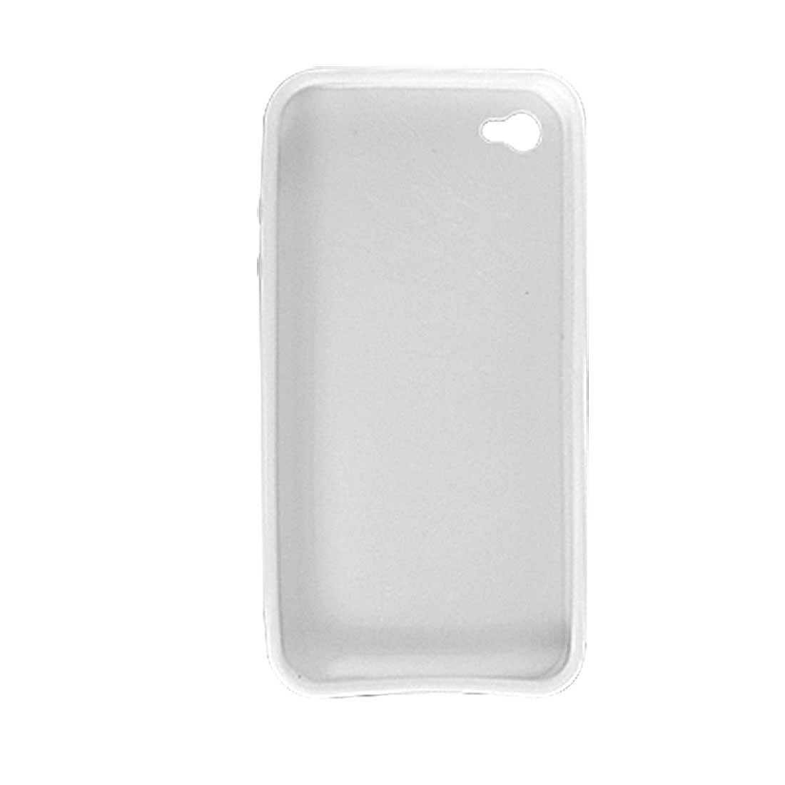 White Soft Plastic Protect Case for Apple iPhone 4 4G