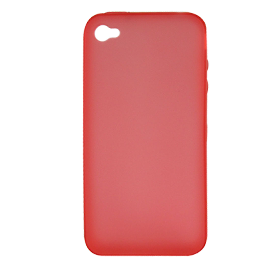 Clear Red Soft Plastic Protect Case for Apple iPhone 4 4G