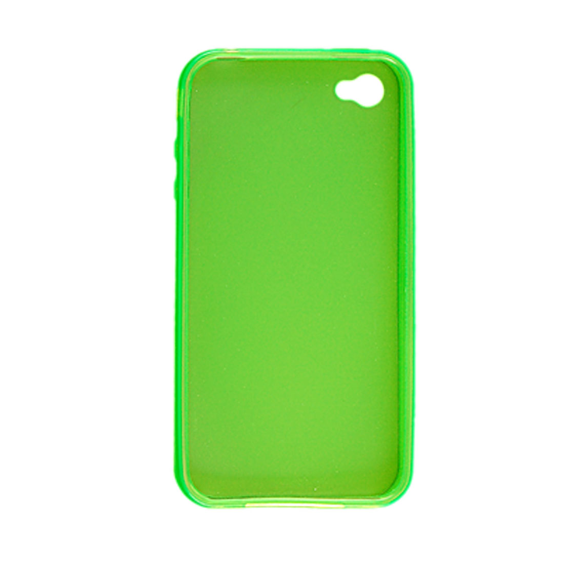 Light Green Clear Soft Plastic Case Cover for Apple iPhone 4 4G