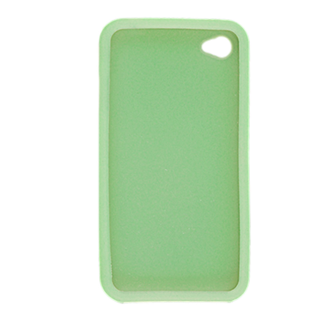 Light Green Soft Silicone Cover Case + Screen Guard for Apple iPhone 4 4G