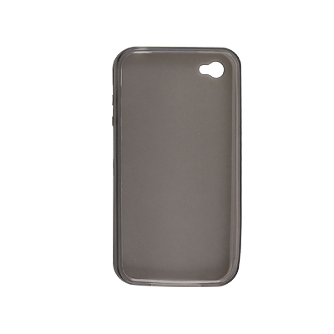 Soft Plastic Clear Gray Cover Case + Screen Guard for Apple iPhone 4 4G