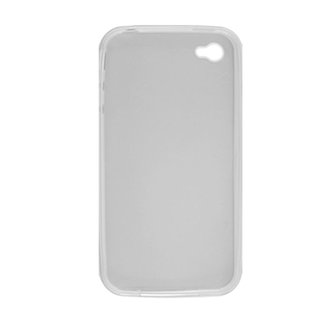 Soft Plastic Clear White Case Cover + Screen Guard for iPhone 4 4G