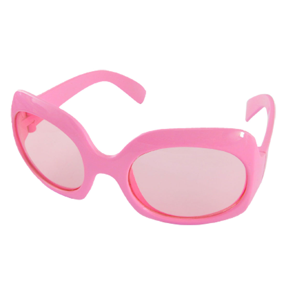 Pink Full Rim Frame Plastic Children Sunglasses for Girls