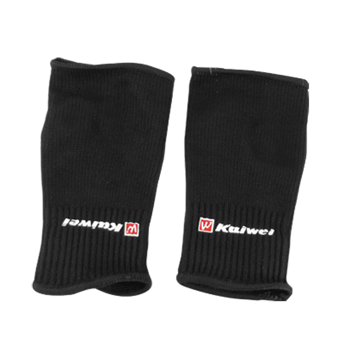 Pair Black Elastic Palm Support Brace Sports Protector