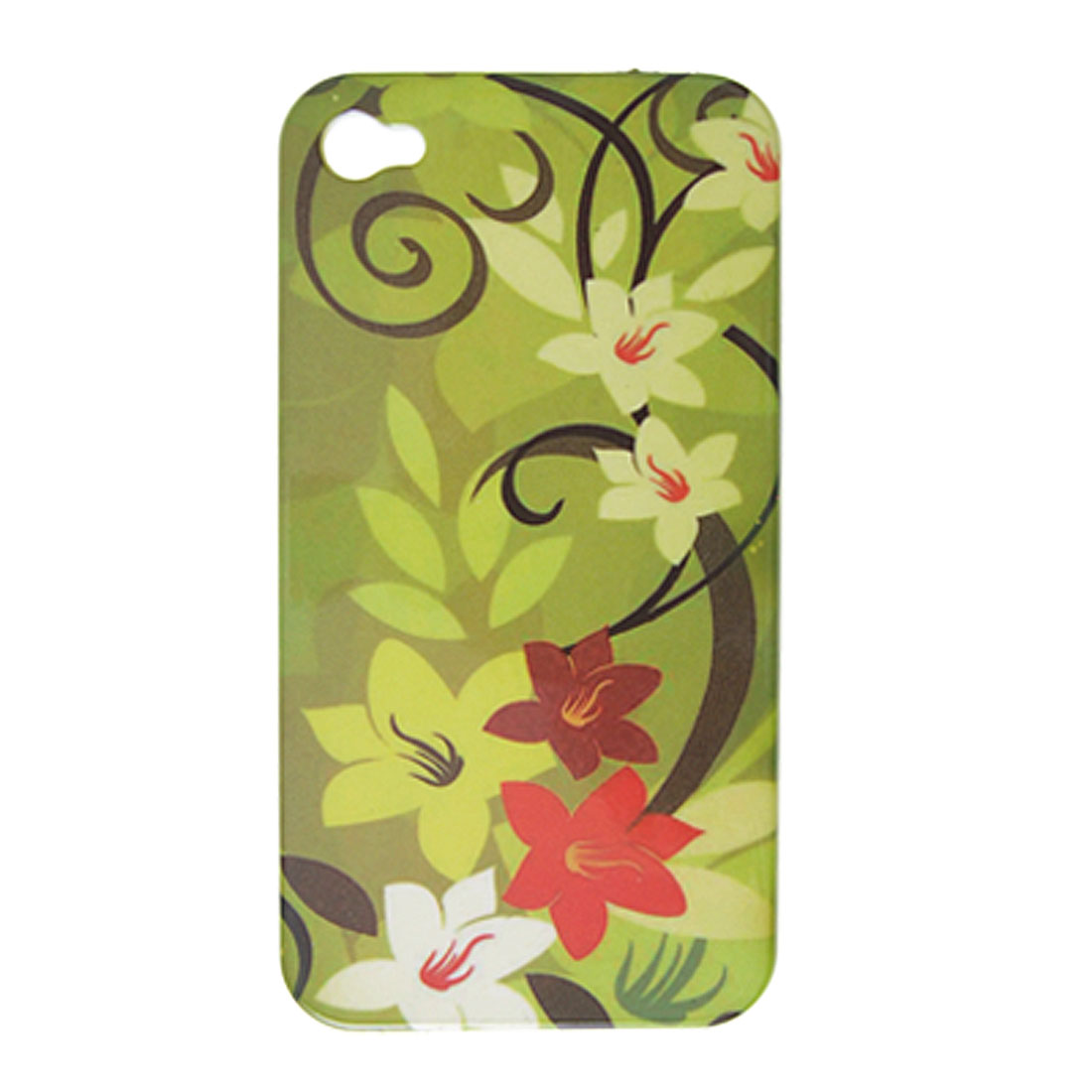 Flowery Hard Plastic Back Case Shell for Apple iPhone 4 4G
