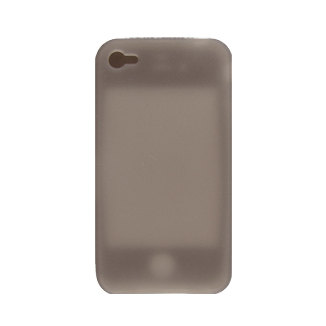 Soft Silicone Button Hole Design Case for iPhone 4 4G Clear Gray