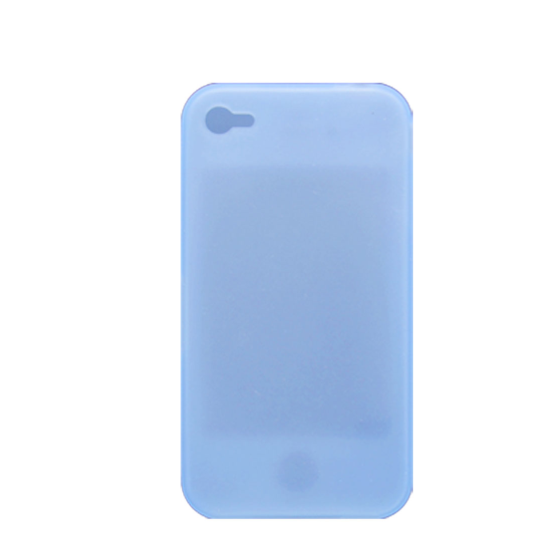 Light Blue Soft Silicone Skin Case for Apple iPhone 4 4G