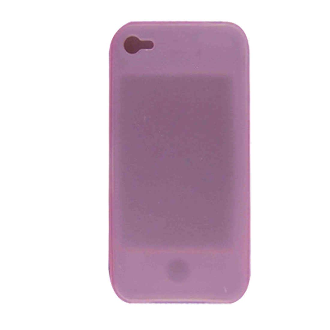 Clear Pink Soft Silicone Protector Case for Apple iPhone 4 4G