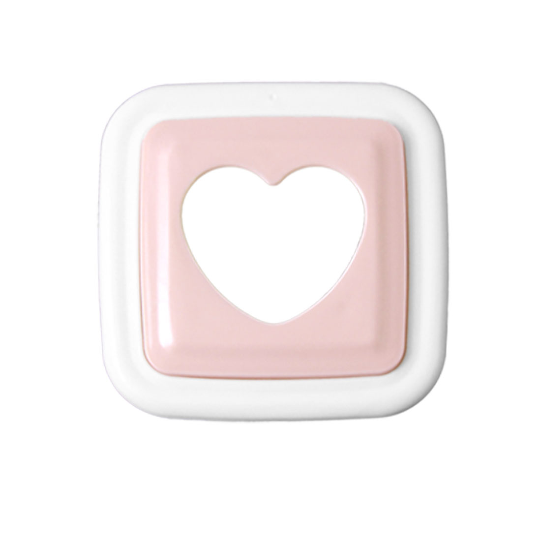 White Pink Plastic Cooking Sandwich Heart Mold Cutter Maker