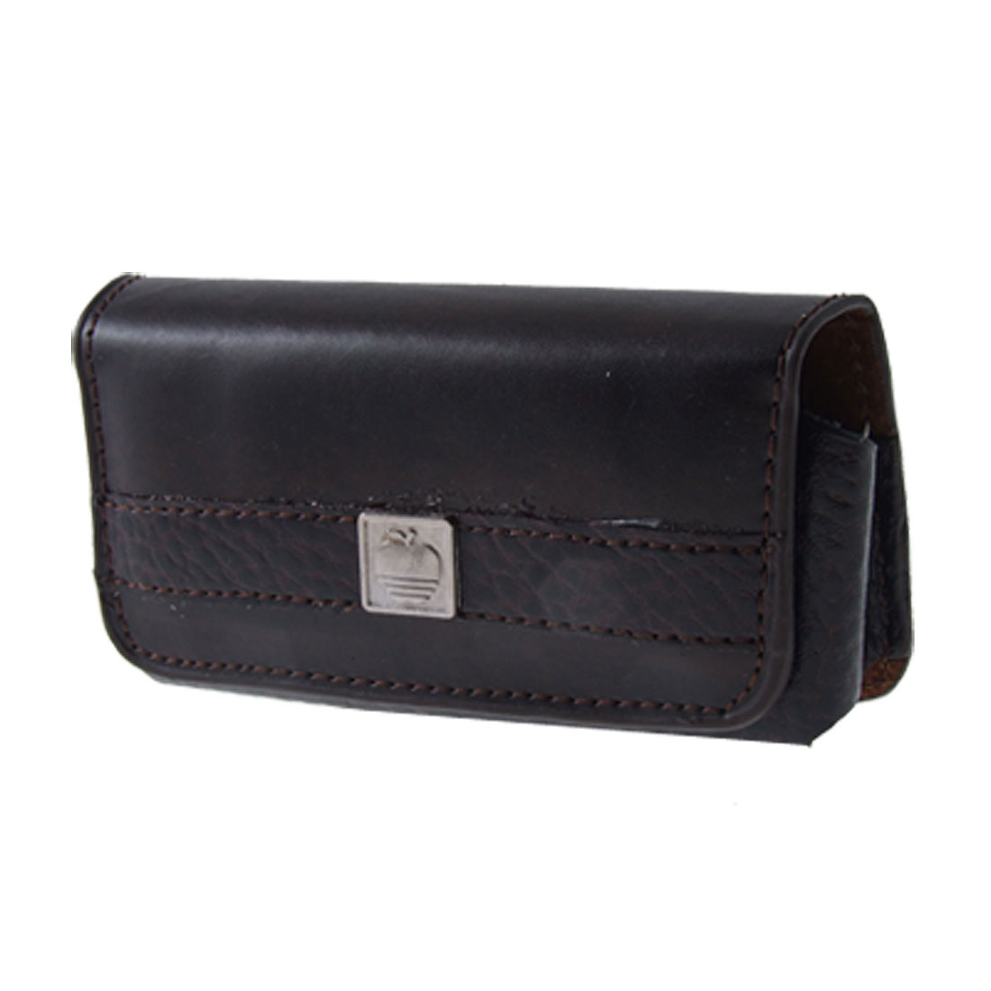 Black Faux Leather Magnet-clasped Closure Pouch Holder for Nokia N73