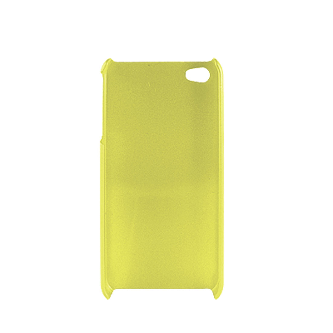 Clear Yellow Hard Plastic Phone Cover Case for iPhone 4 4G