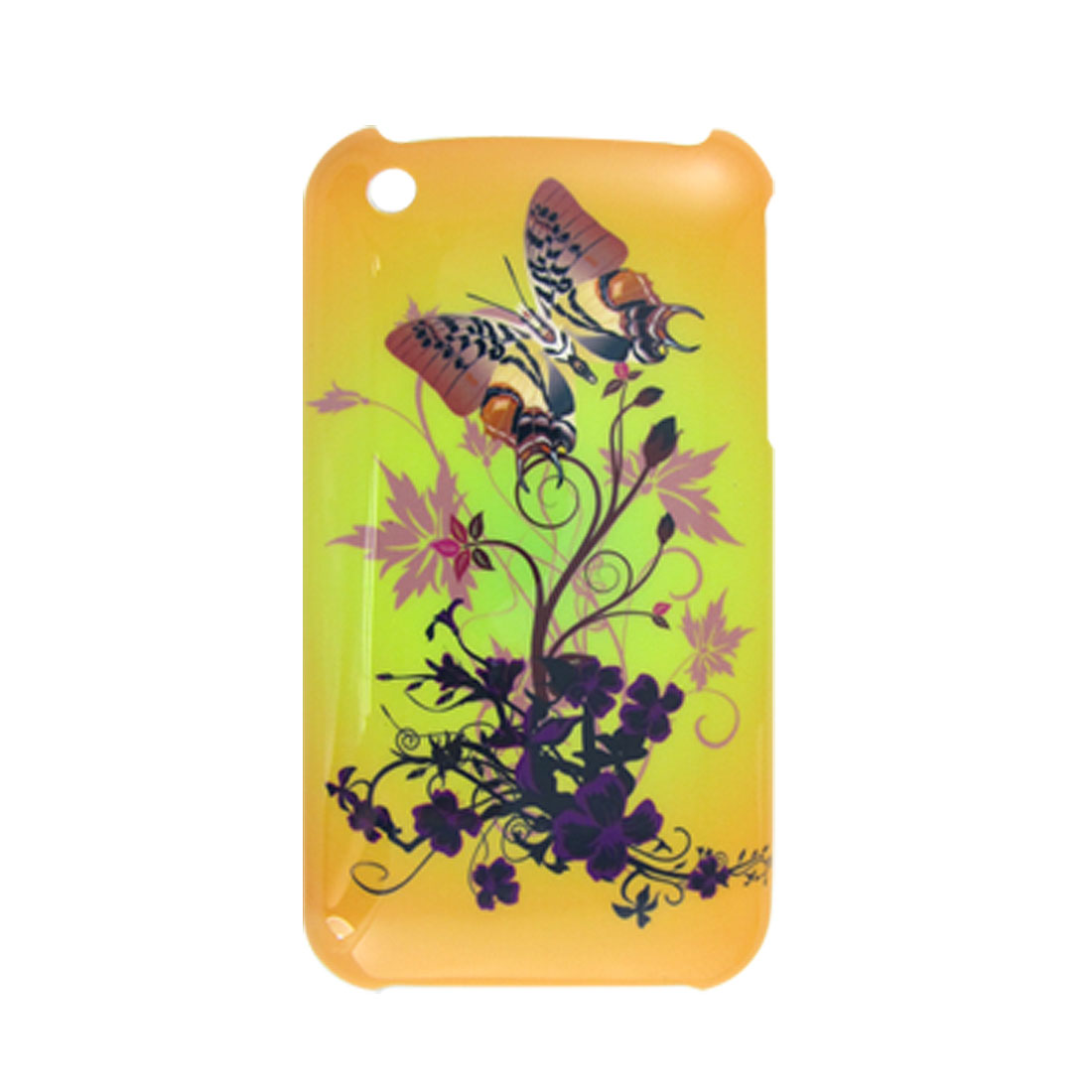 Butterfly Print Case + Screen Protector for iPhone 3G