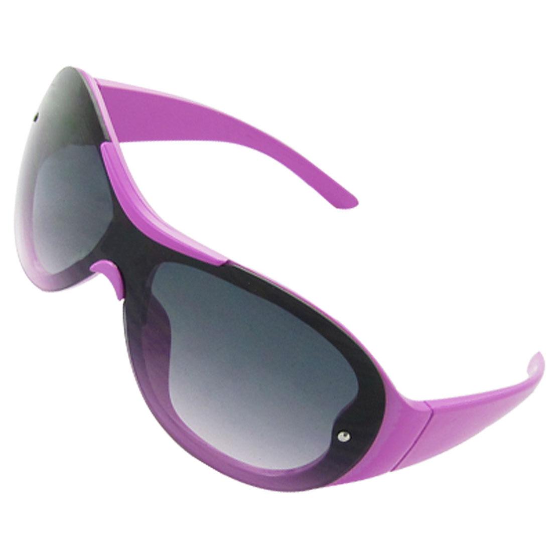 Purple Frame Oversize Lens Children Sunglasses Eyewear
