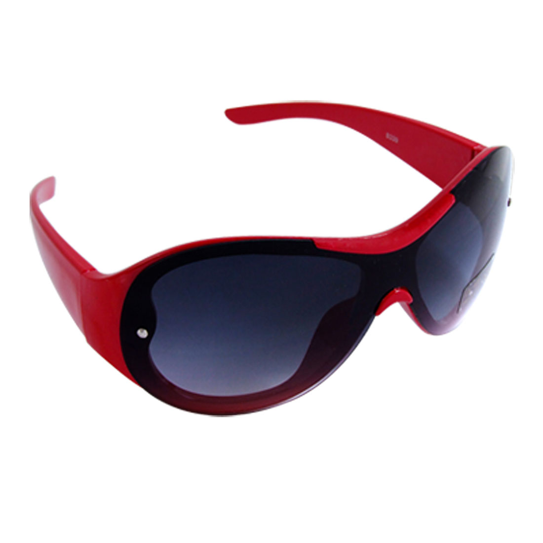 Kids Red Plastic Full-rim Dark Lens Leisure Sunglasses