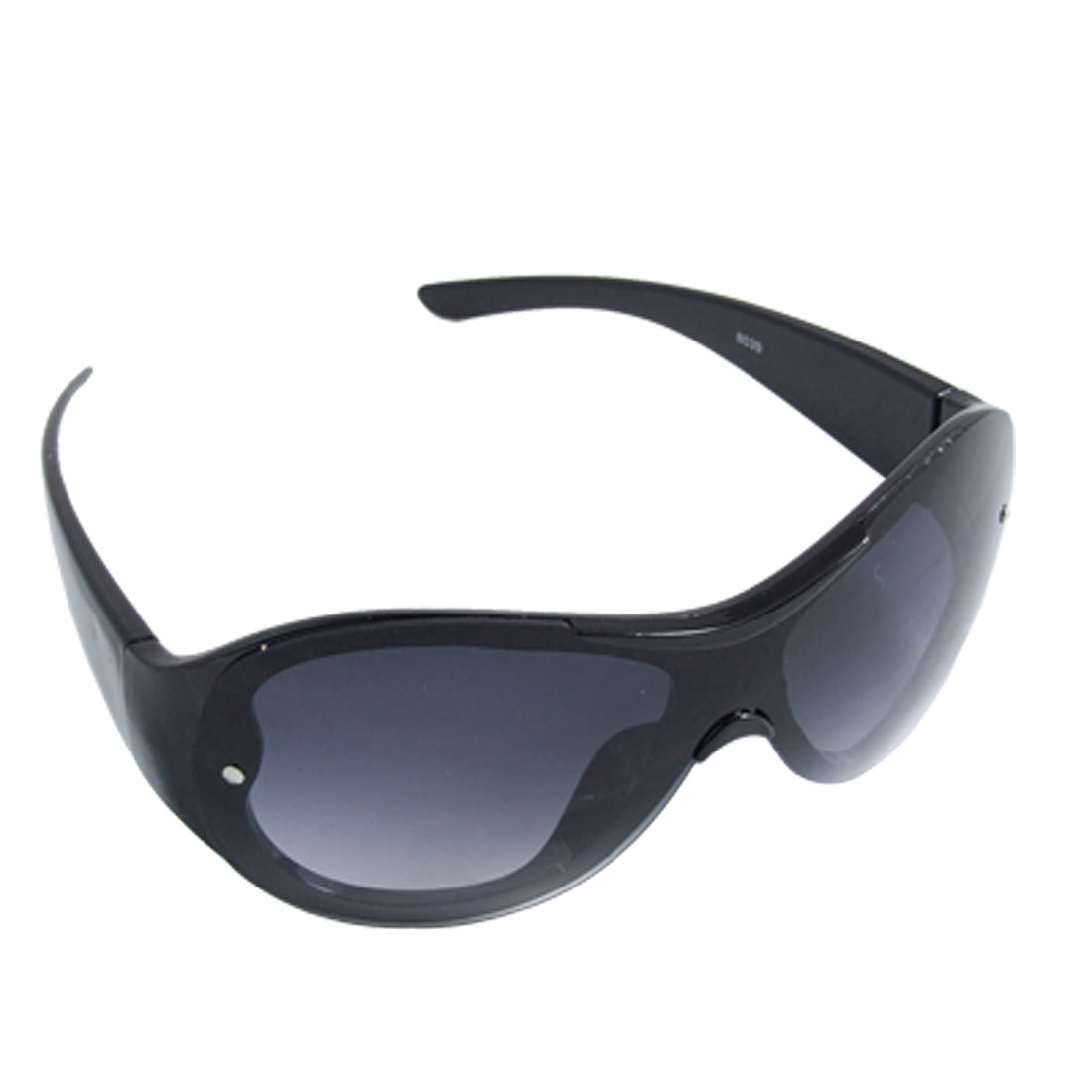 Dark Lens Black Plastic Full-rim Leisure Sunglasses for Kids