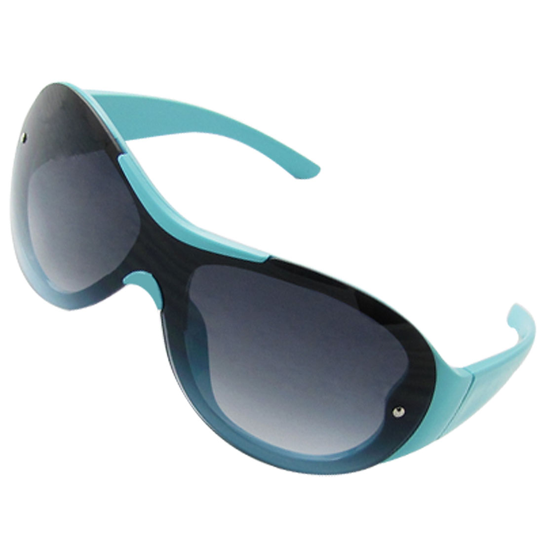 Children Cyan Blue Frame Oval Dark Lens Chic Sunglasses