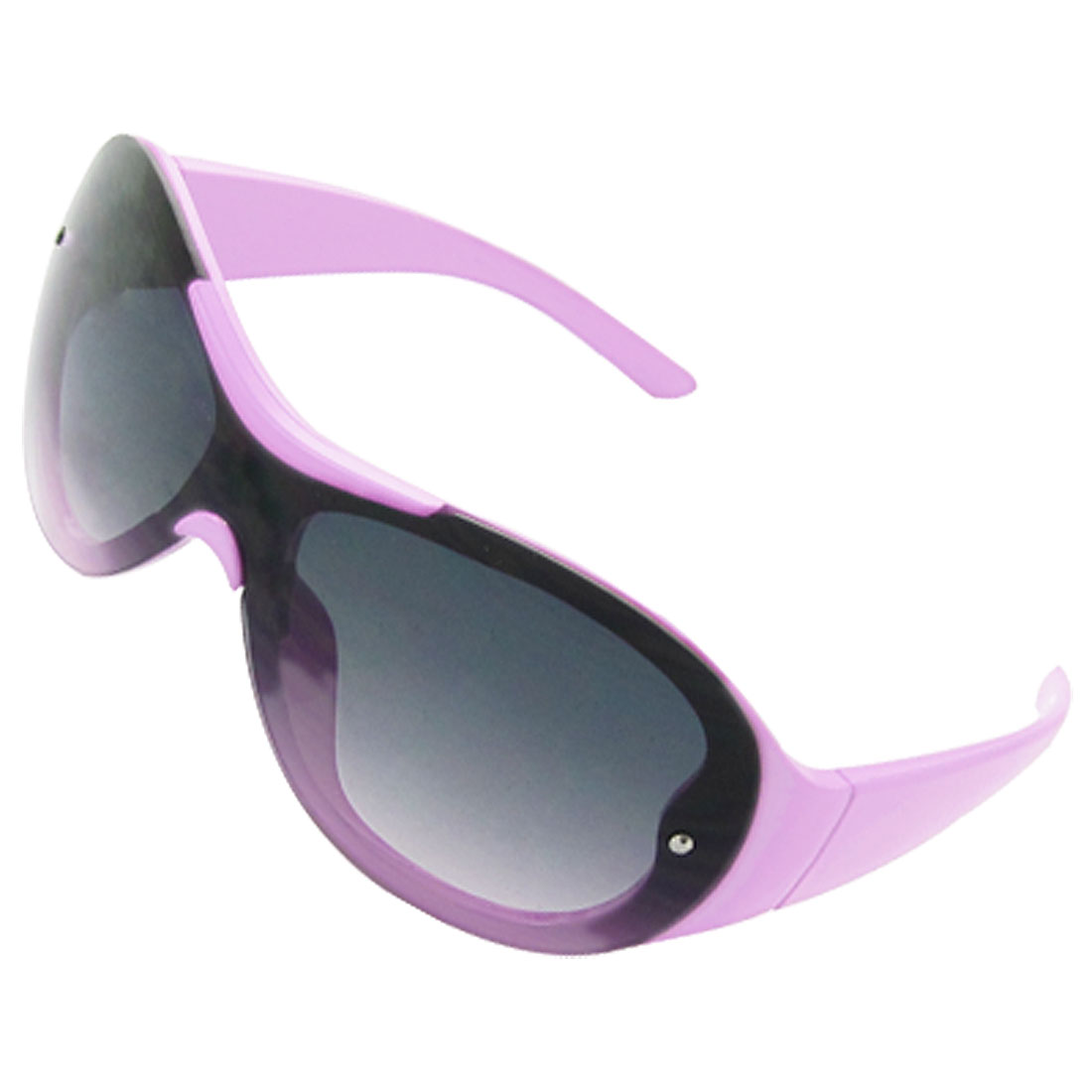 Lilac Full Frame Oval Dark Lens Sunglasses for Chidren