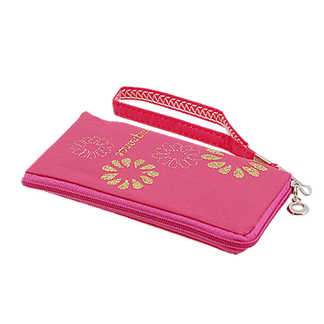 Flower Design zippered Bag Pouch for Mobile Phone