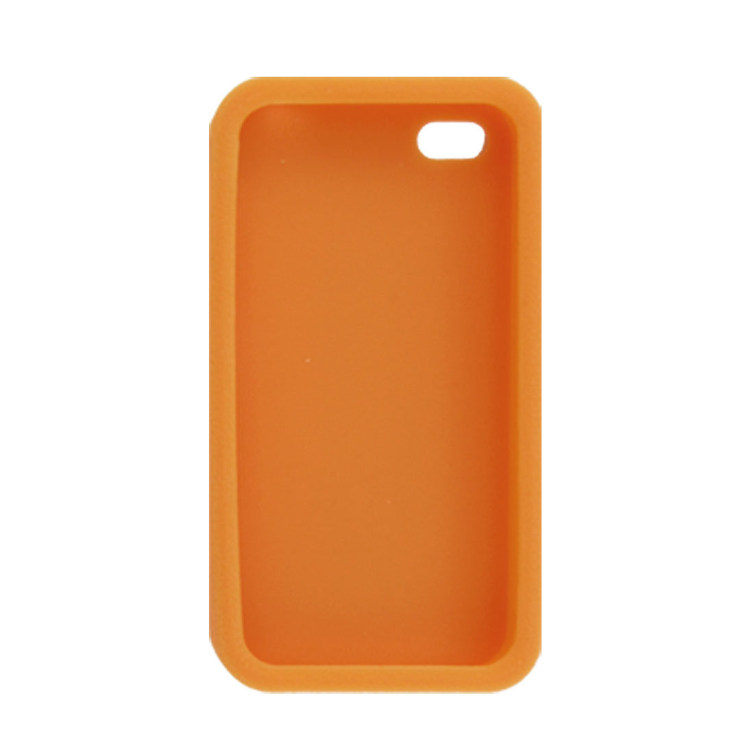 Orange Texture Silicone Shield Case for Apple iPhone 4 4G
