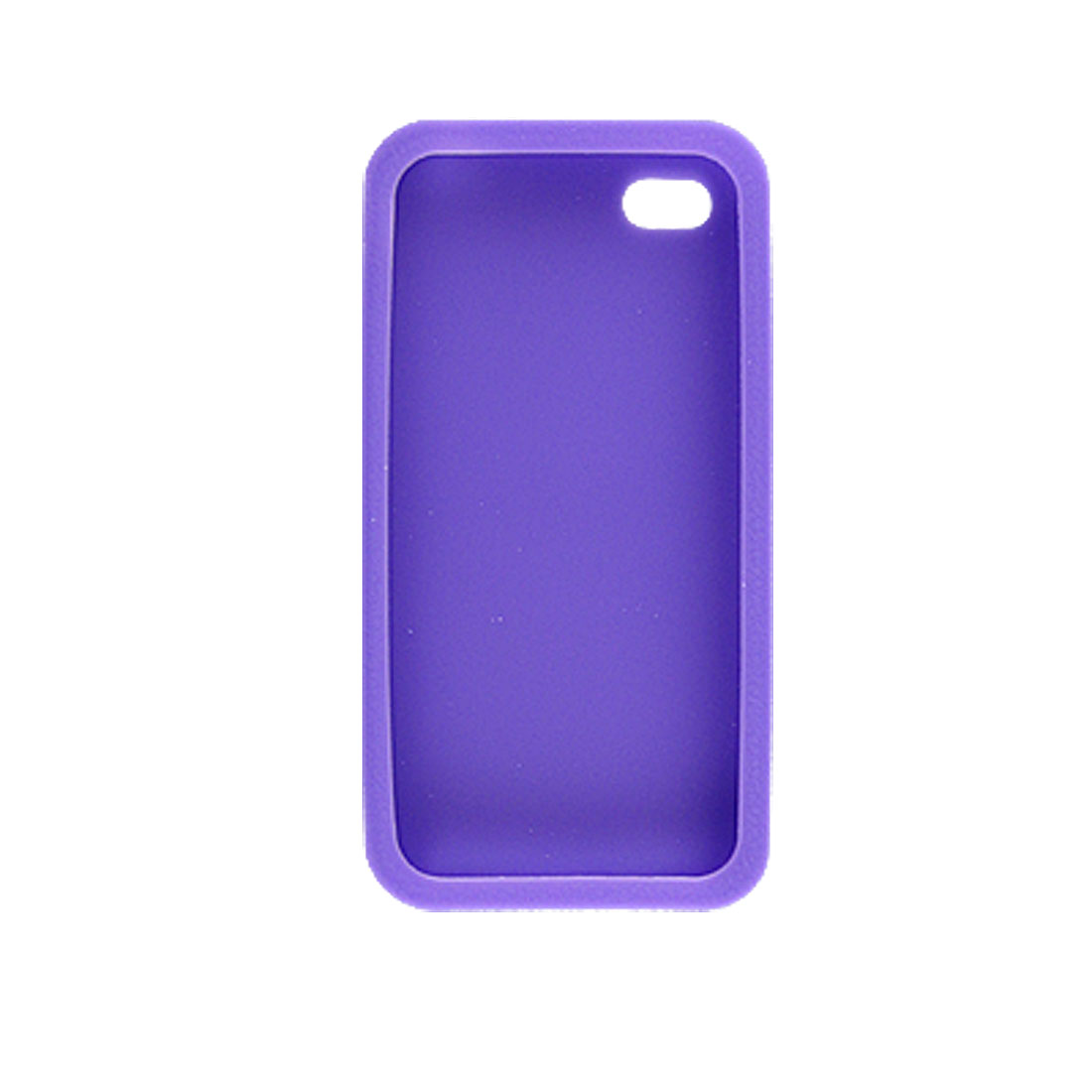 Purple Texture Silicone Skin Shell Cover for Apple iPhone 4