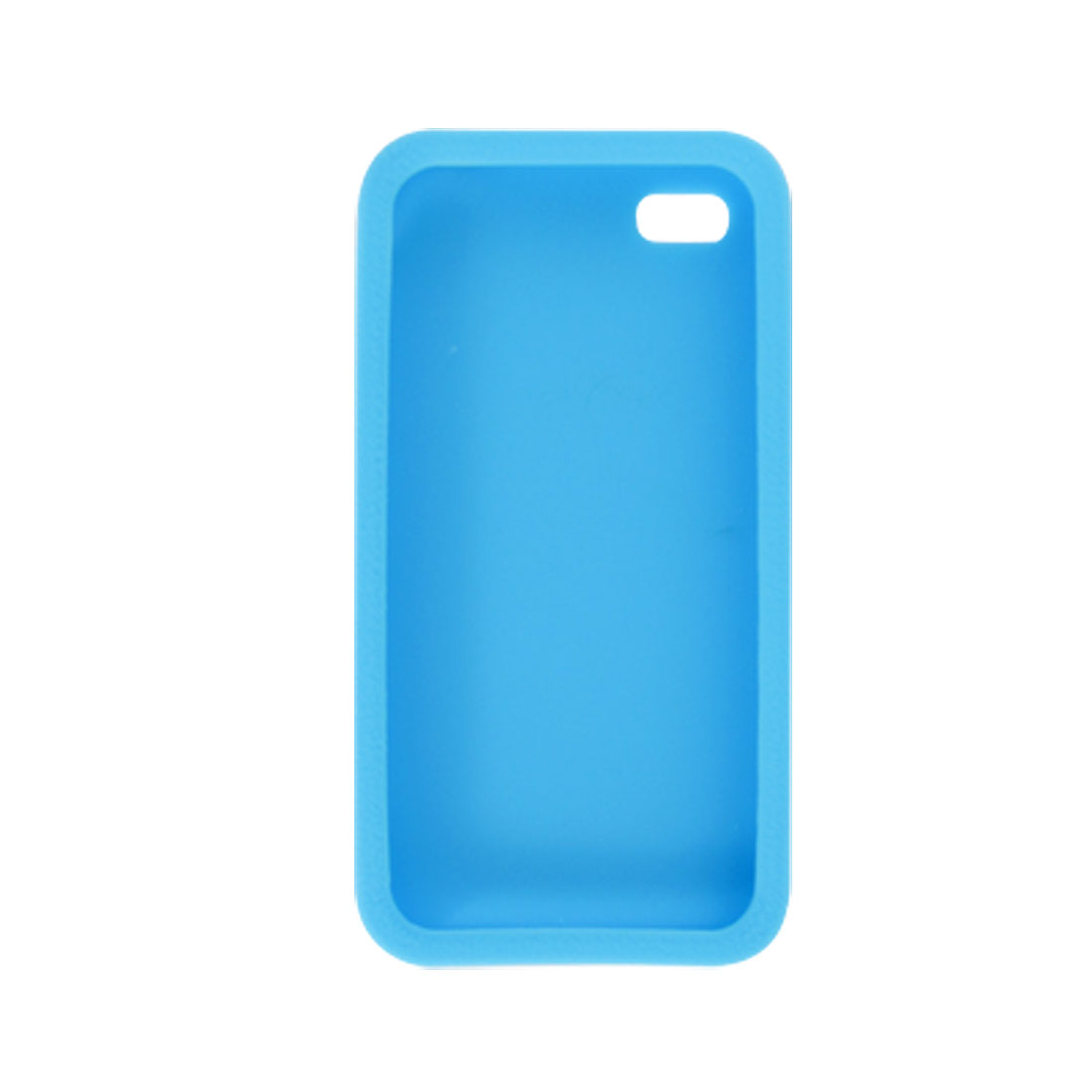 Sky Blue Silicone Soft Skin Case Cover Shell for for Apple iPhone 4 4S