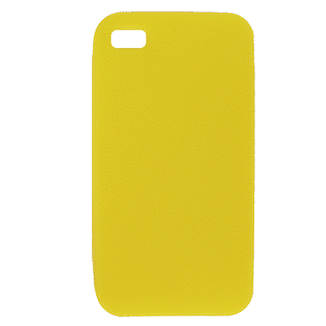 Pure Yellow Silicone Protector Case Cover for Apple iPhone 4 4S 4G