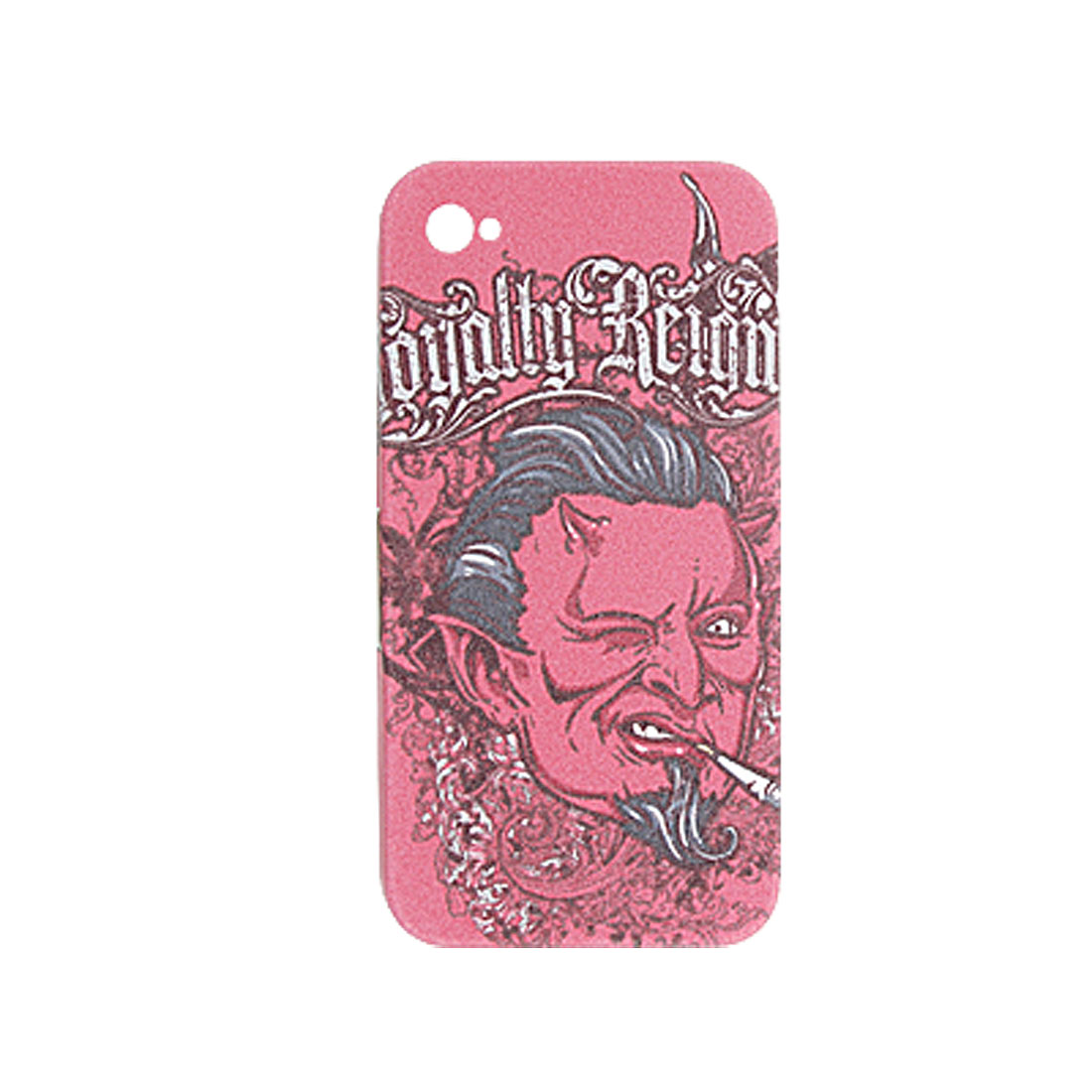 Man Head Style Pink Hard Plastic Case for iPhone 4 4G