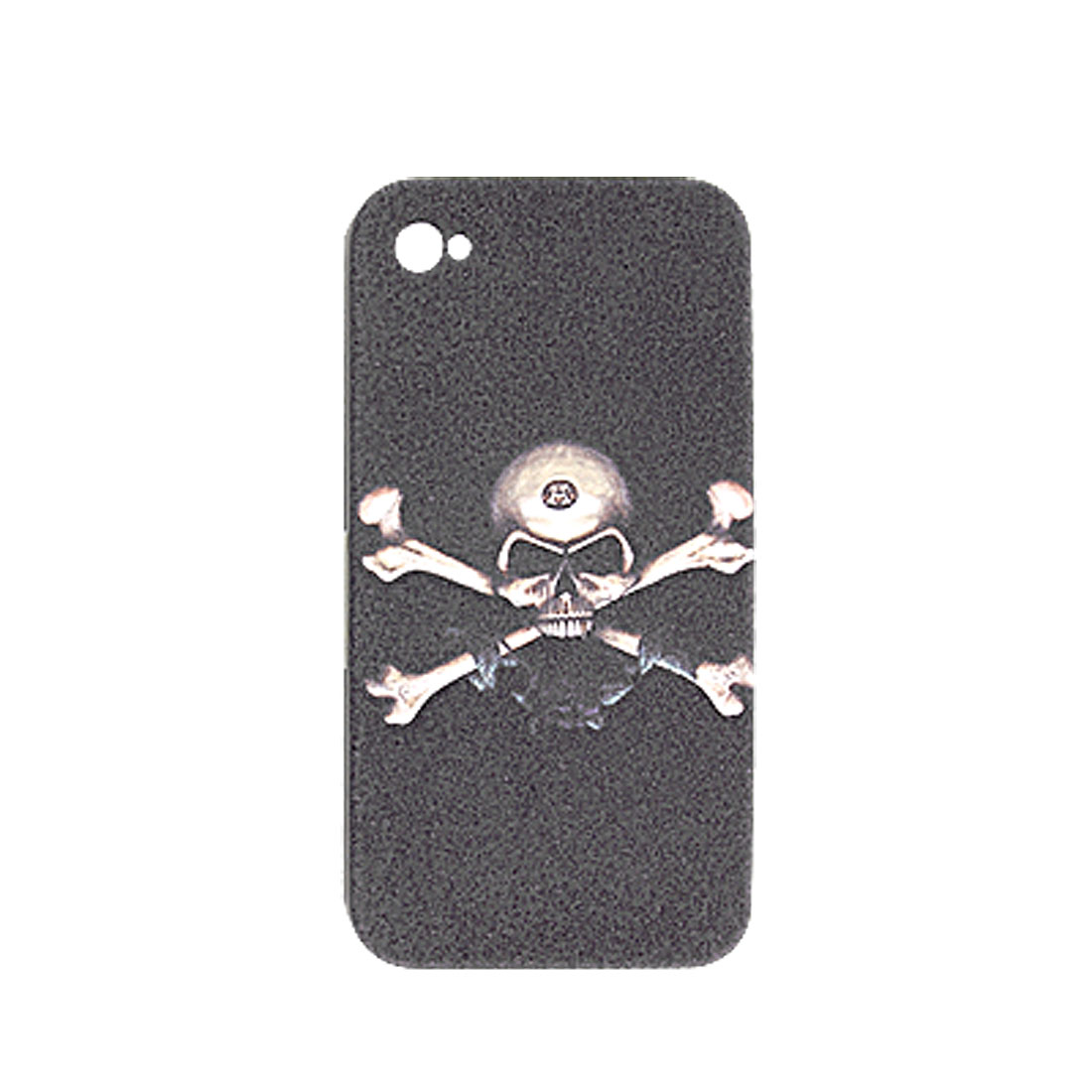 Black Skull Style Foam Coated Plastic Case for iPhone 4 4G