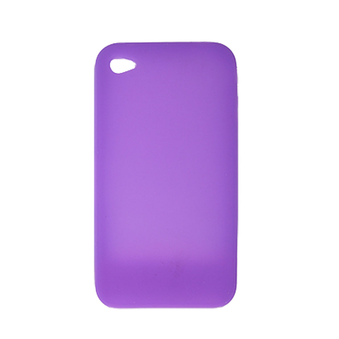 Purple Soft Silicone Pressing Button Skin Case for Apple iPhone 4 4G