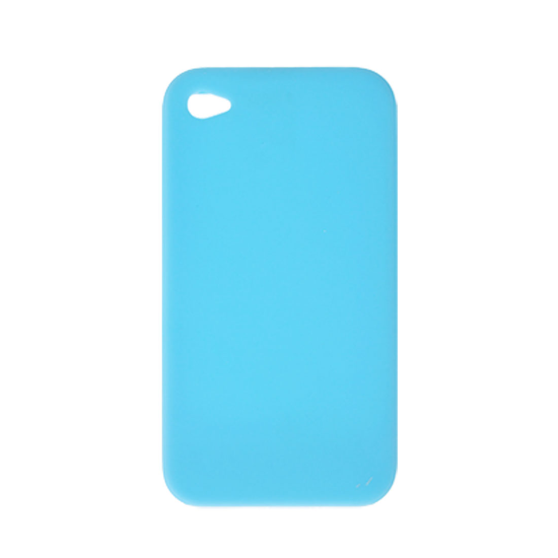 Skyblue Soft Silicone Pressing Button Case Cover for iPhone 4 4G