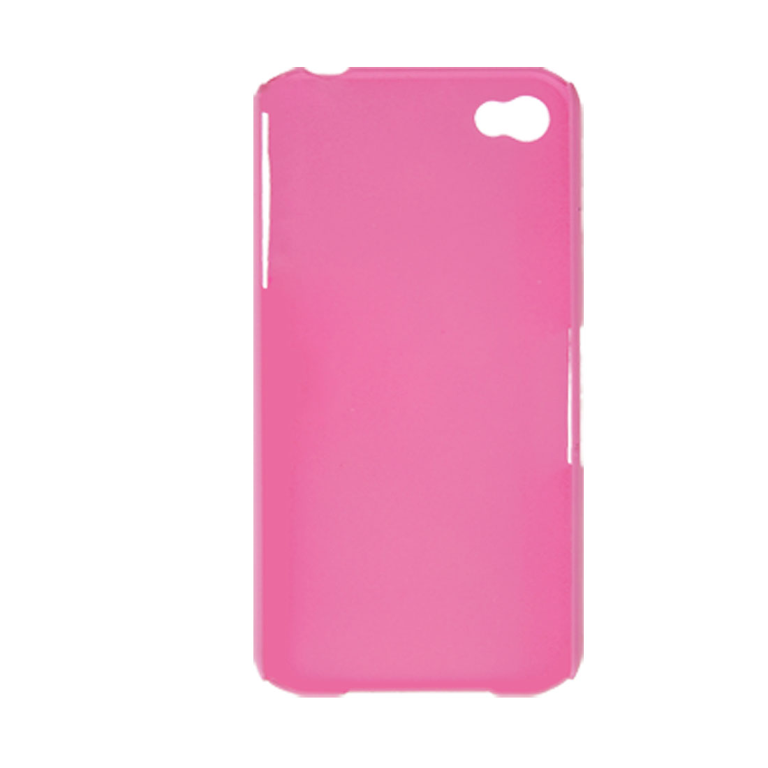 Pink Rubberized Hard Plastic Case for iPhone 4 4G