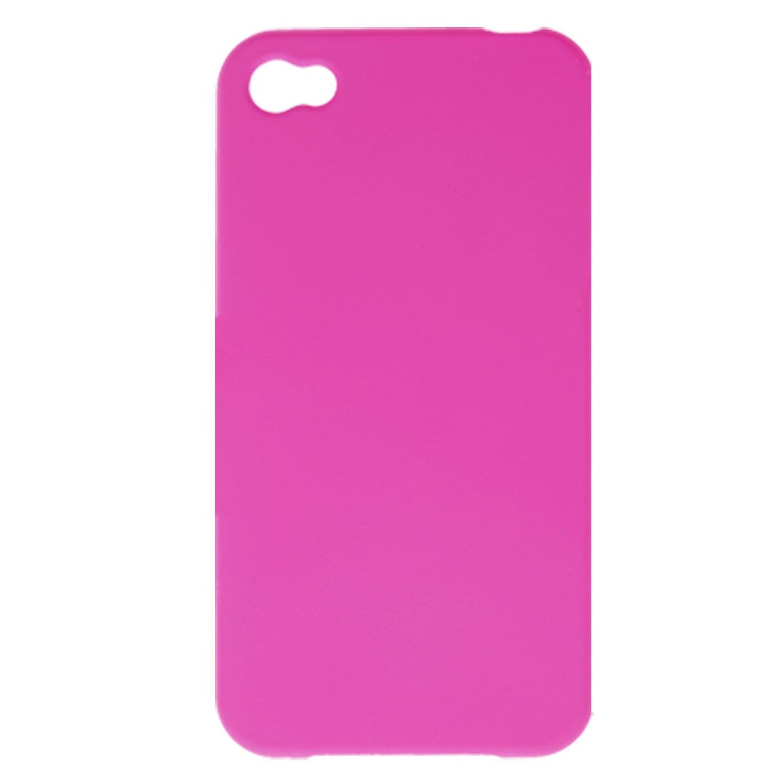 Amaranth Pink Rubberized Hard Plastic Case for iPhone 4 4G