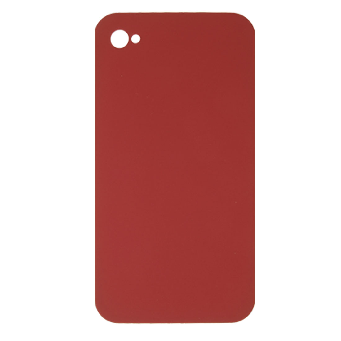 Red Rubberized Hard Plastic Case Cover for iPhone 4 4G