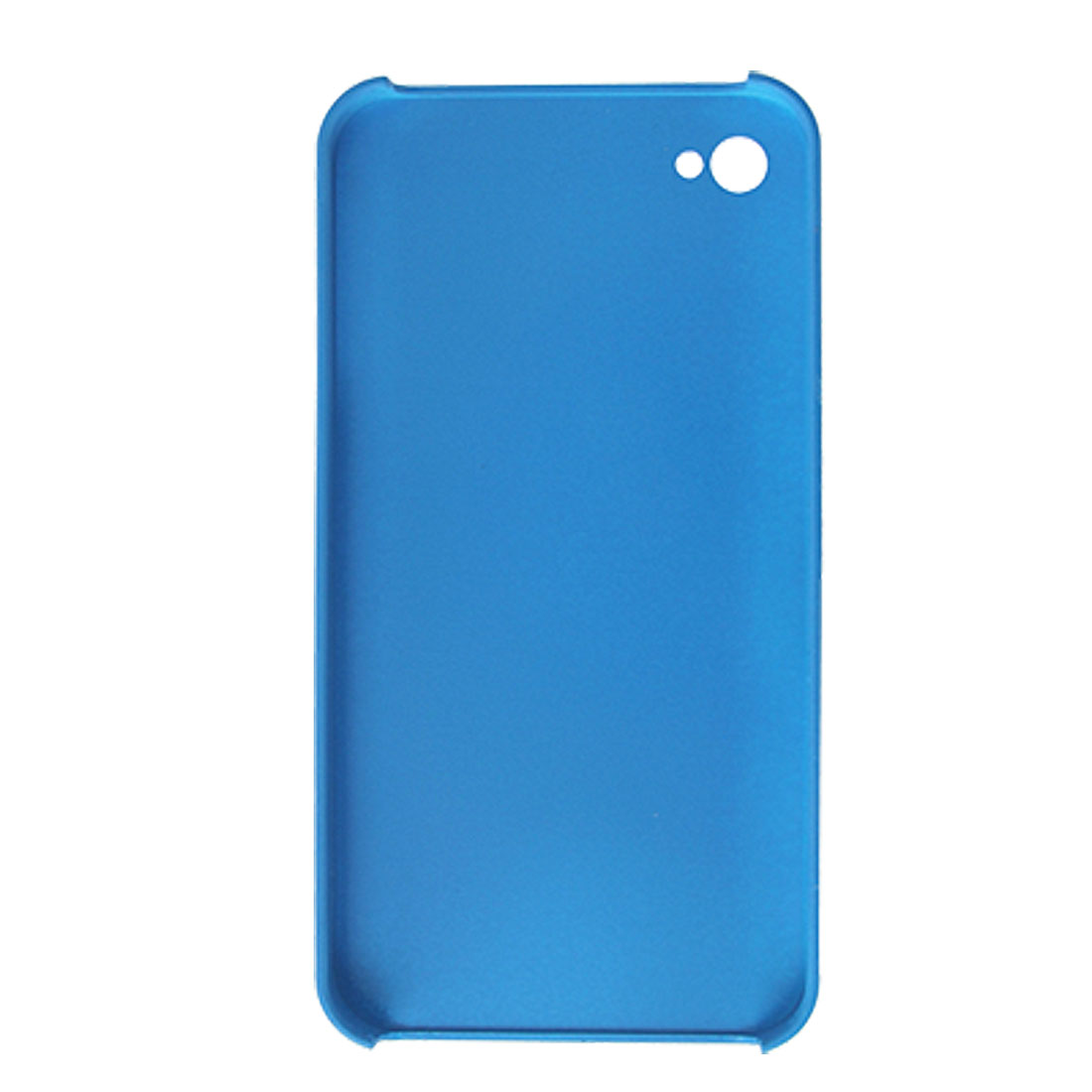 Rubberized Plastic Blue Case Shell for iPhone 4 4G