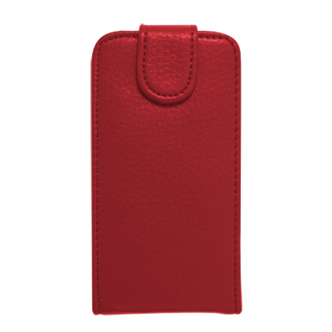 Red Faux Leather Hard Plastic Case + Screen Film for iPhone 4 4G