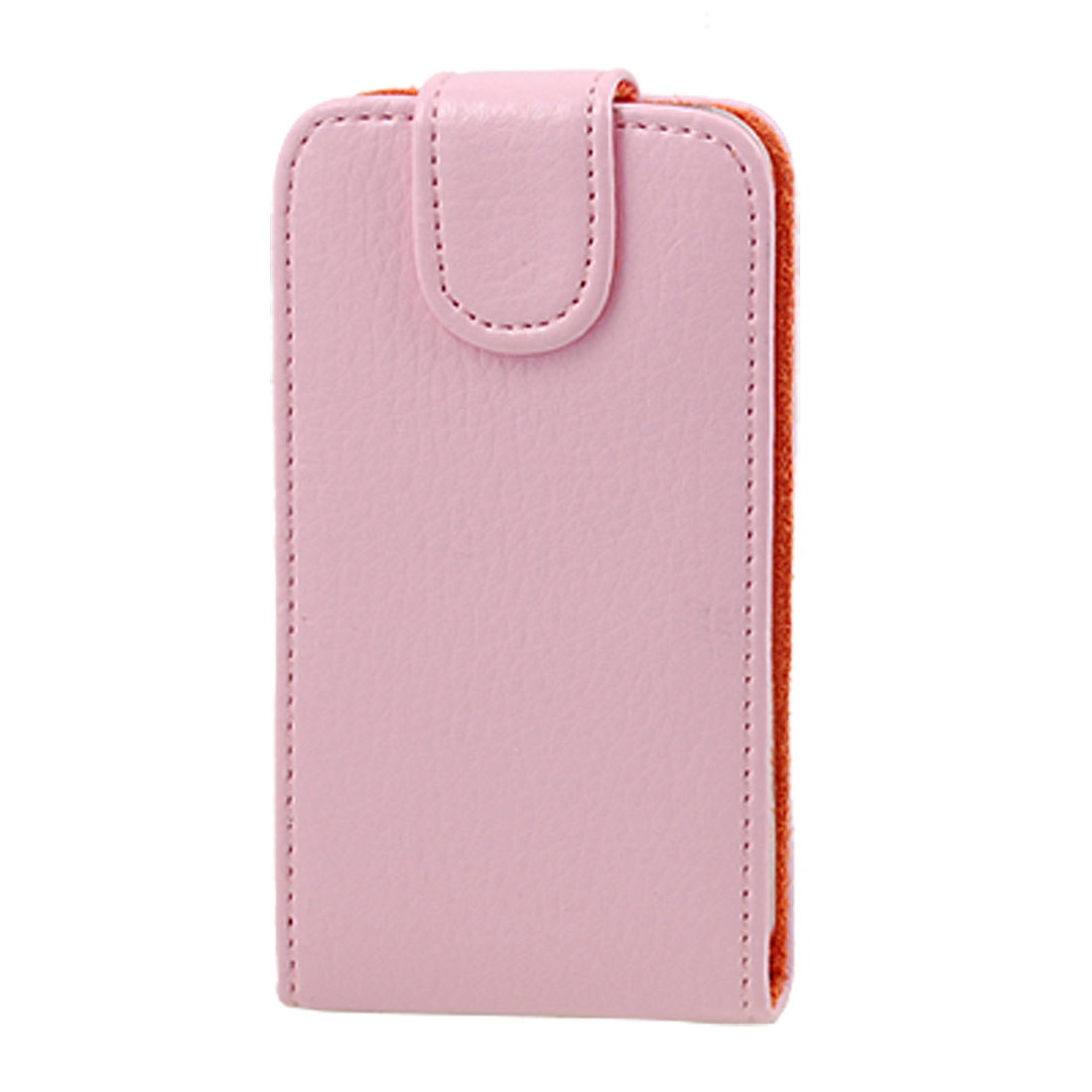 Pink Faux Leather Case + Screen Protector for iPhone 4 4G