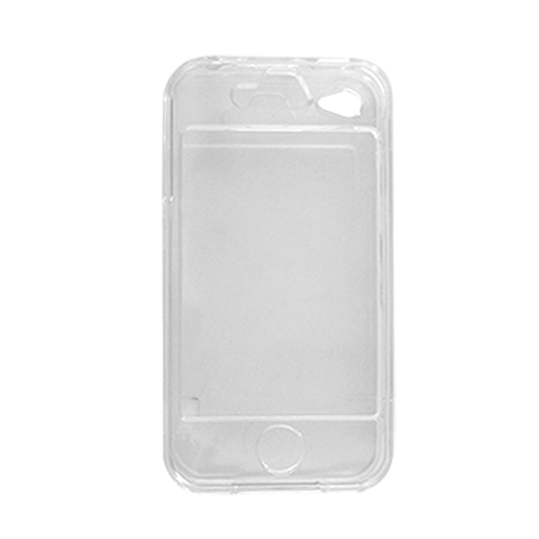 Clear Hard Plastic Crystal Case Protector for iPhone 4G 4