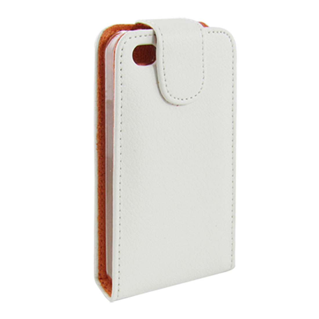 White Magnetic Button Closure Case for iPhone 4G 4