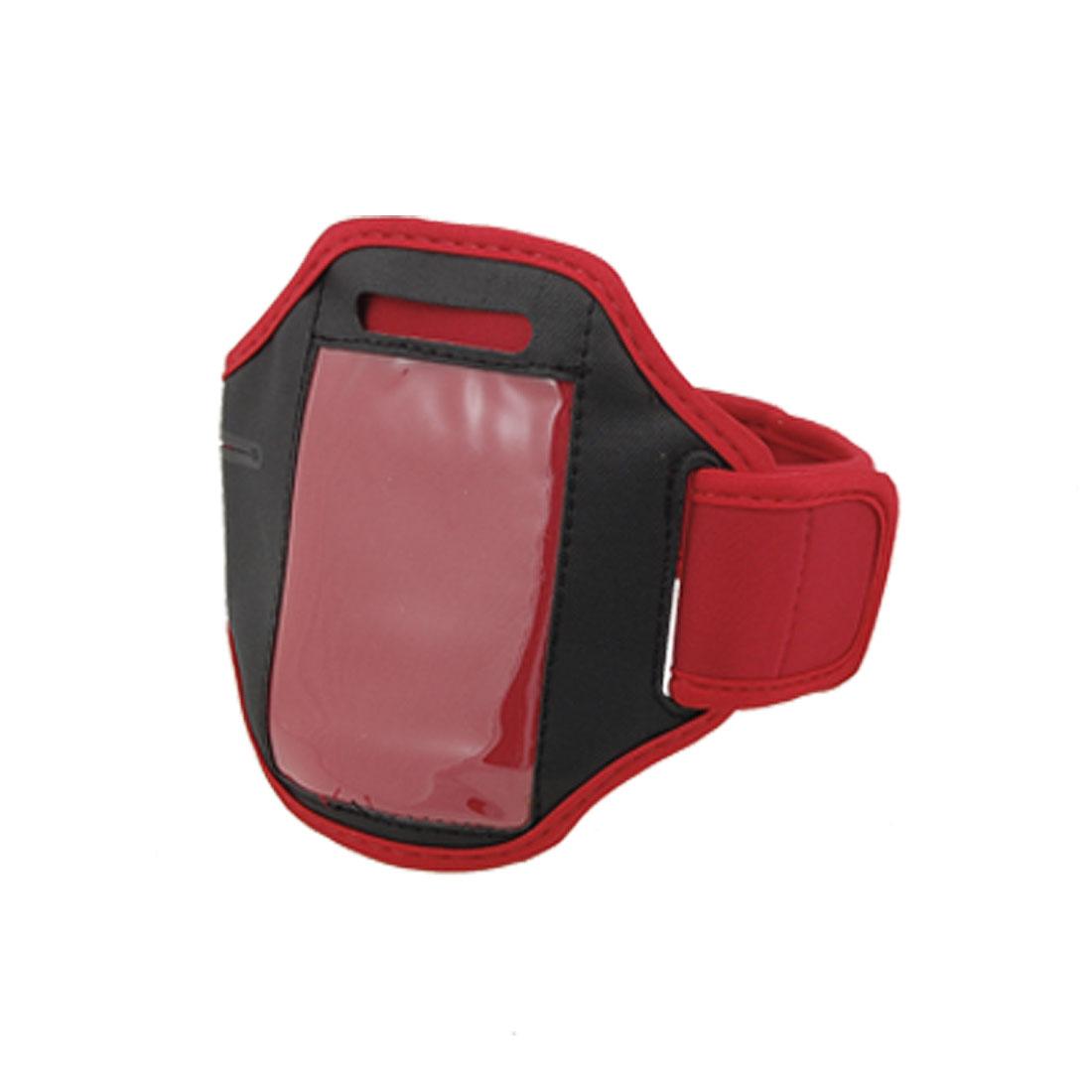 Black Red Adjustable Neoprene Armband Holder for iPhone 4