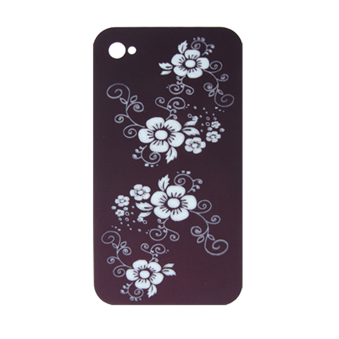 Plum Blossom Print Hard Plastic Case Cover for iPhone 4 4G
