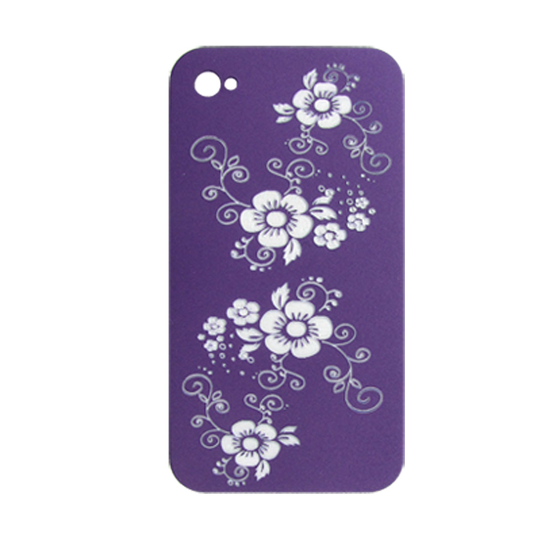 Carved Plum Blossom Hard Plastic Back Case for iPhone 4 4G