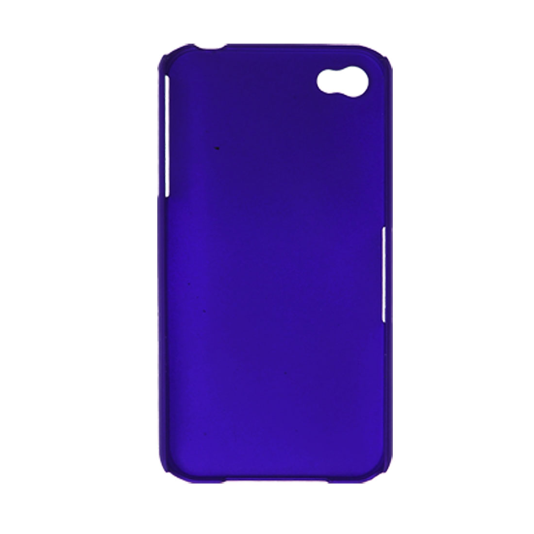 Blue Rubberized Plastic Back Case Shell for Apple iPhone 4 4G