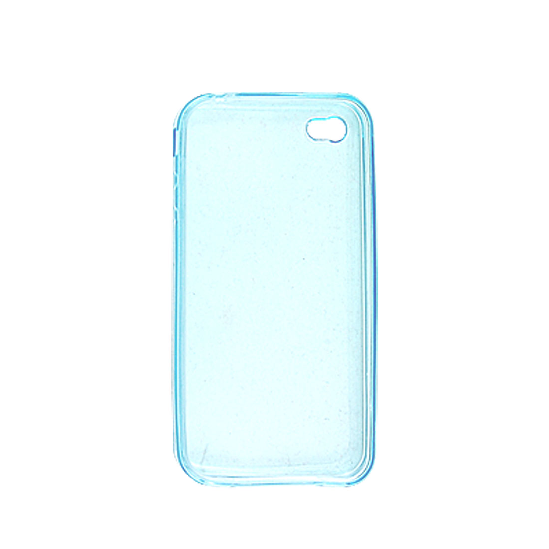 Protective Clear Blue Soft Plastic Protector for iPhone 4