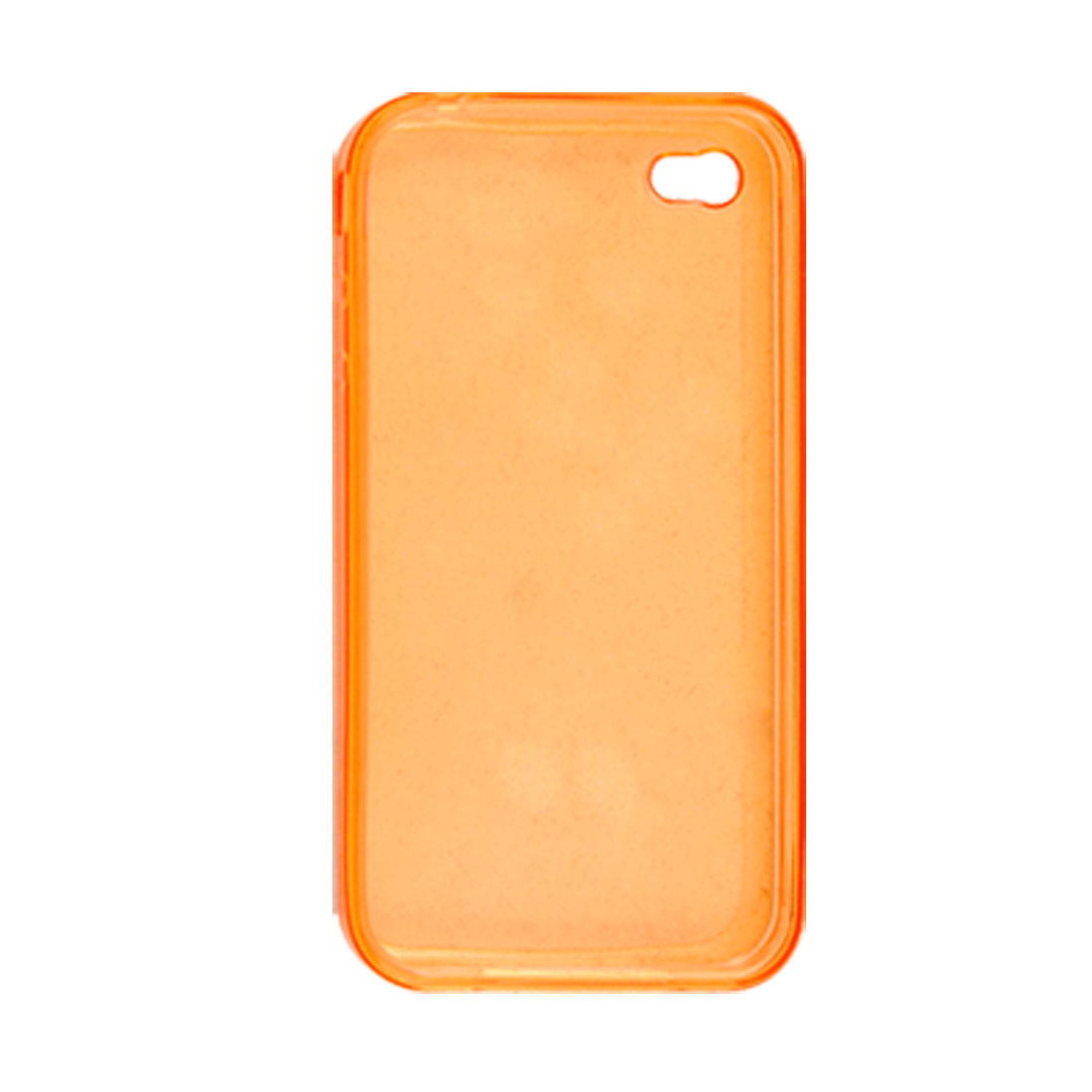 Soft Plastic Protective Clear Orange Cover for iPhone 4
