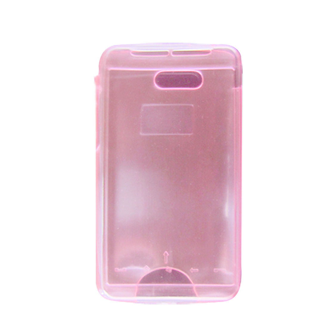 Soft Plastic Clear Pink Guard Shield Case for HTC HD Mini